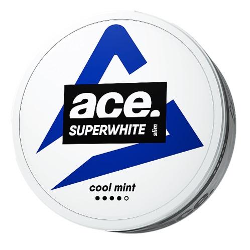 Kuvassa Ace Cool Mint nikotiinipussipakkaus.