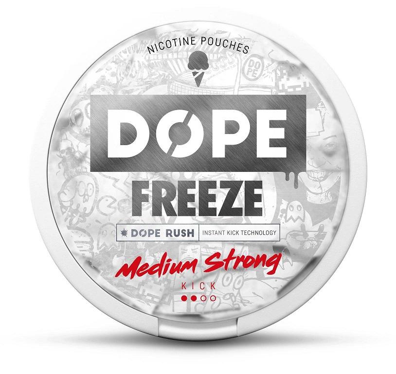 Dope Freeze nikotiininuuska 4mg. 22 pussia per kiekko.