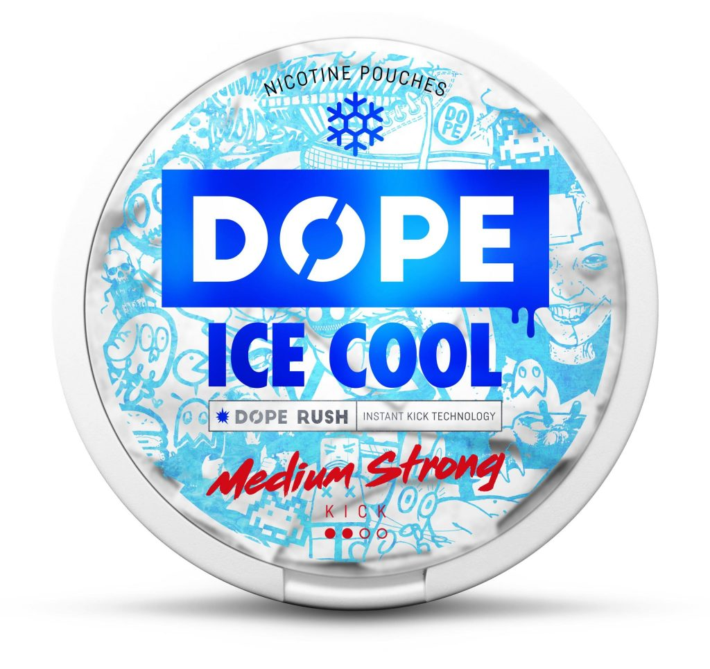 Dope Ice Cool nikotiininuuska 4mg. 22 pussia per kiekko.