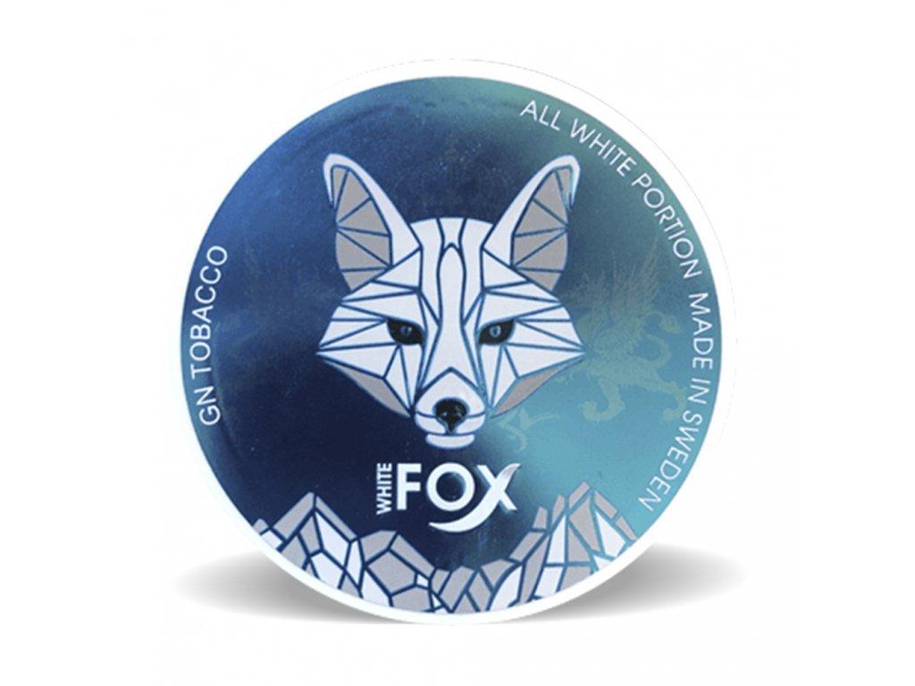 Kuvassa Fox White Portion nikotiinipussipakkaus.
