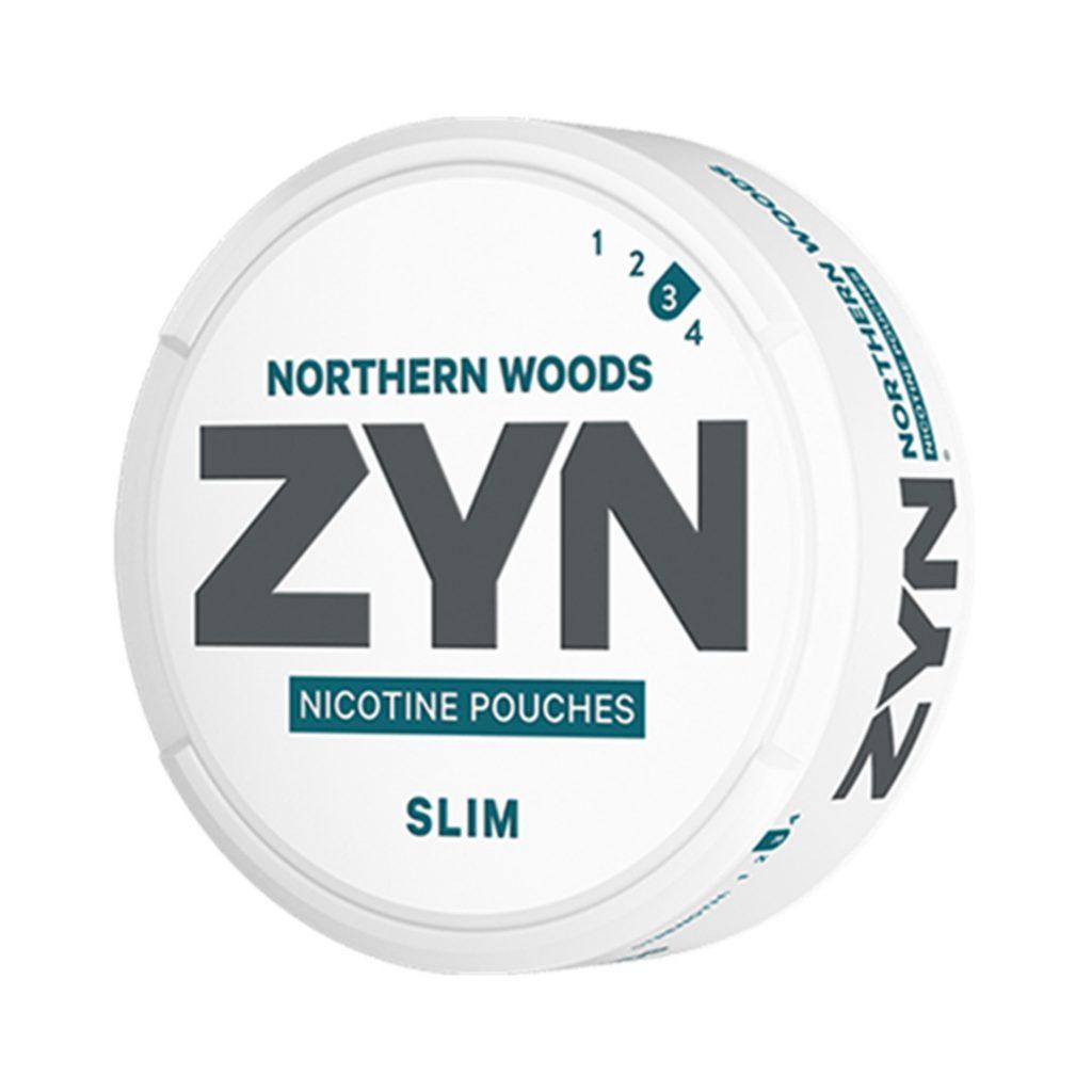 Kuvassa Zyn Northern Woods nikotiinipussipakkaus.