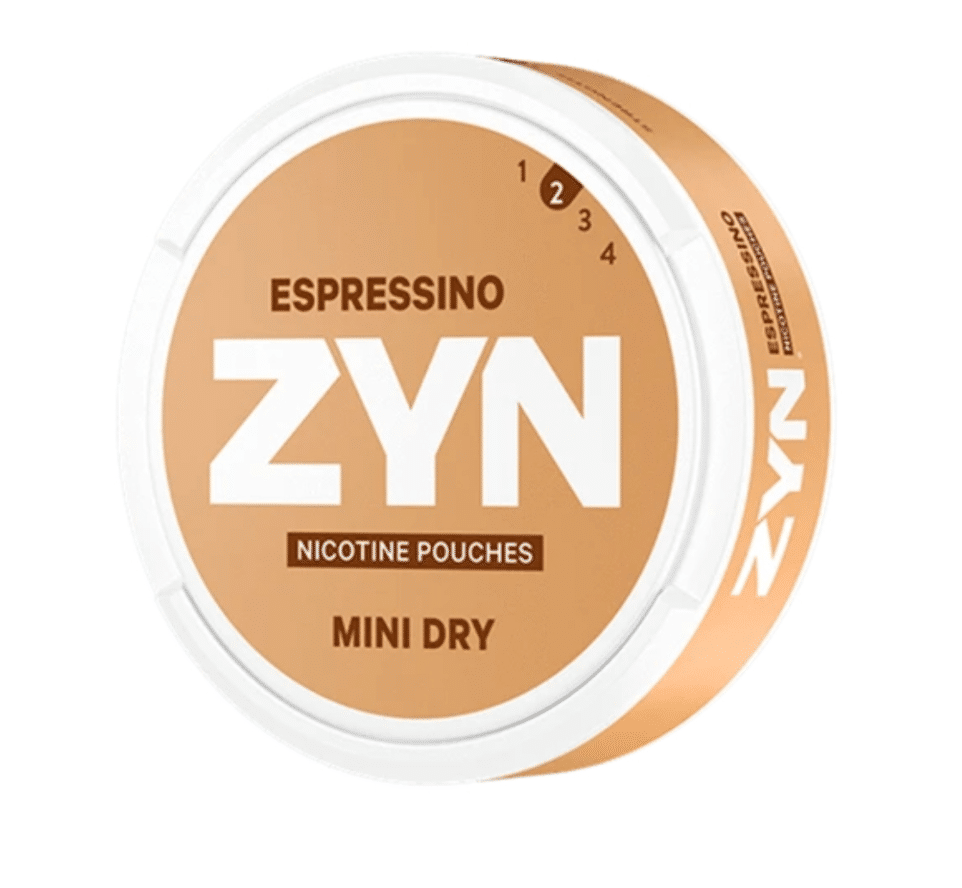 Zyn Espressino nikotiinipusseja sisältävä annoskiekko. Zynin tuotteet voivat toimia apuna tupakoinnin lopettamisessa.