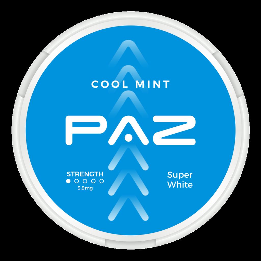 Paz Cool mint nikotiinipussi -annoskiekko. Valmistettu Intiassa.